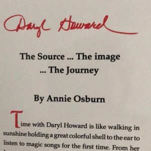 """Daryl Howard """"The Source...The image...The Journey"""
